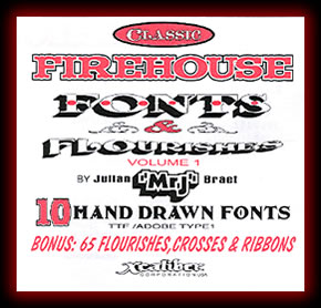 Classic Firehouse Fonts & Flourishes Volume 1 Collection