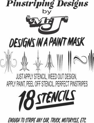 PINSTRIPE DESIGNS PAINT MASK FOR WEB